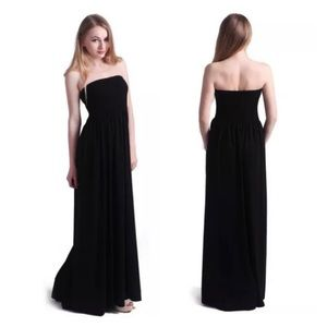 Dresses & Skirts - ✨COMING SOON!✨Strapless Ruched Maxi Dress in Black